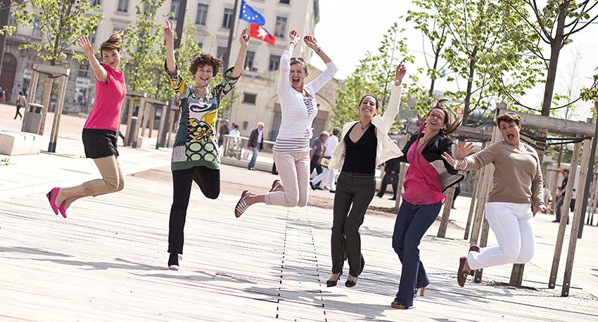 Les ambassadrices Business Woman Rhône-Alpes : une équipe dynamique et débordante de projets.