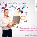 Soirée «Boostez votre présence digitale ! Atelier Stratégie et Focus LinkedIn» mardi 13 novembre